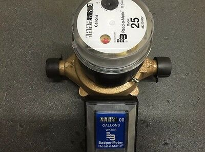 Badger M-25 Water Meter Pulse With Remot
