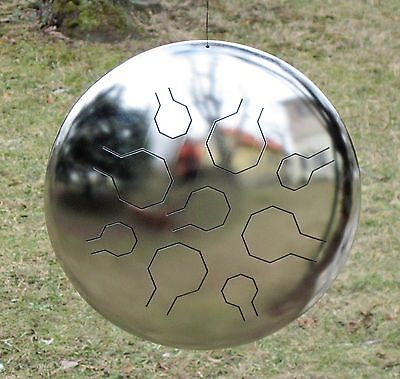 Stainless Steel VibeDrum – 9 Notes in E-Minor - Polished - S - Steel Tongue drum
