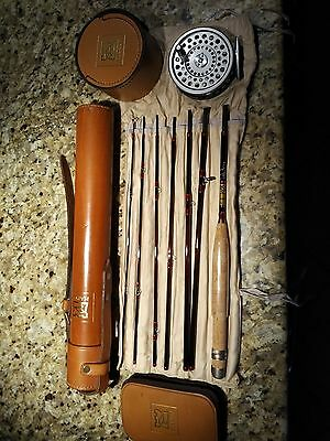 Hardy Smuggler Rod And Hardy Reel With Leather Cases ++