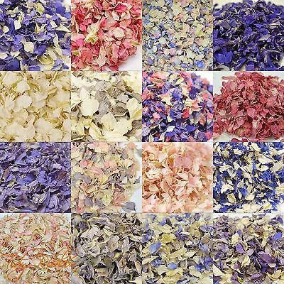 Natural Dried Delphinium Petals Wedding Confetti Biodegradable Table Throwing