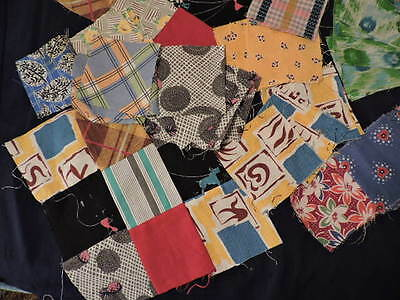 Mixed Lot Vintage Quilting blocks & squares 40's 50's, 60's and 70's