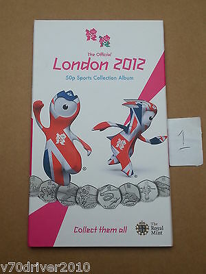 OFFICIAL Olympic 50p Sports Album Royal Mint Coin Folder Completer Medallion -1