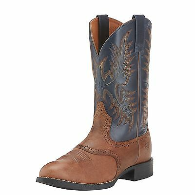 ARIAT - Men's Heritage Stockman Boots - Sandstorm / Blue - ( 10015299 ) - New