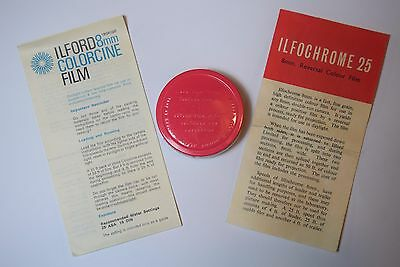 Ilfochrome 25? Colour 8mm Ilford film Canister with contents, opened/ unopened?