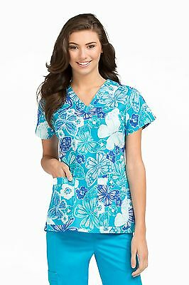 """Med Couture MC2 Style 8479 V-Neck Scrub Top """"OSFT"""" Size 3XL"""