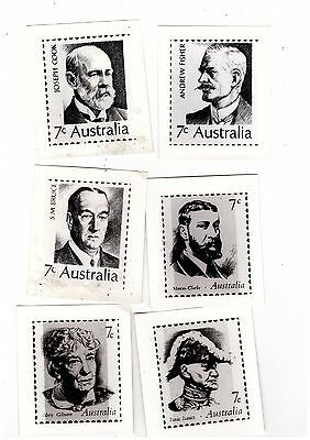 Australia Booklet Stamps OFFICIAL PUBLICITY PHOTOs    ( 6 items )