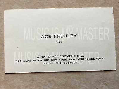 Kiss Rare Original 1977 Ace Frehley Japanese Business Card W/ Coa From Roadie