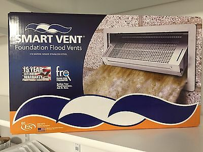 Smart Vent Foundation Insulated Flood Vent Stainless WOOD WALL Model 1540-570