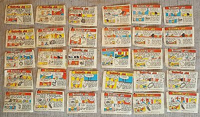 30 VINTAGE 1960's BAZOOKA JOE COMIC WRAPPERS - 30 TOTAL - SMALLER COMICS
