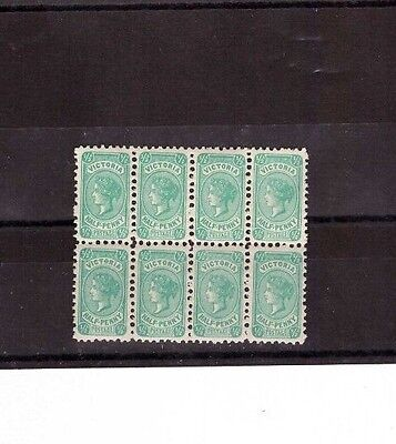 Victoria 1/2d QV SG 457 MINT UNHINGED Block of 8