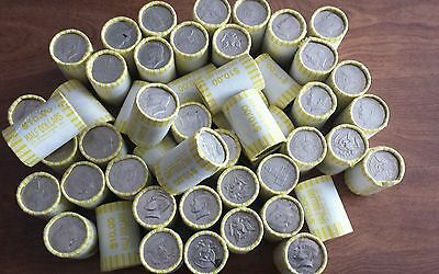 5 Rolls of Bank Wrapped Kennedy Half Dollars. Possible Silver! Unsearched! Su