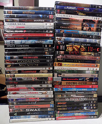 Wholesale Lot Of 65 (14 New Sealed)  Dvd Movies Walt Disney Comedy Drama Action
