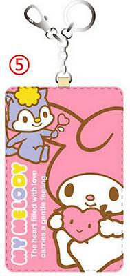 Cute My Melody Badge ID Credit Card Holder Cover & Key Ring Pendant c/w Hook
