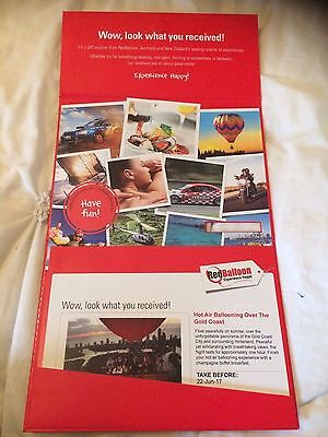 Red Balloon Hot Air Ballooning Vouchers x2