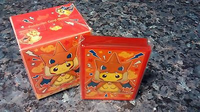 Pokemon center - Poncho Pikachu Mega Charizard Y deck box and sleeves - sealed