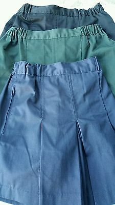 girls sizes14 AND 16 skorts in navy / black / green new by target