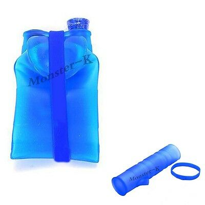 Monster-K 8INCH Portable Folding Silicone Hookah Blue Travel Gifts Hookah