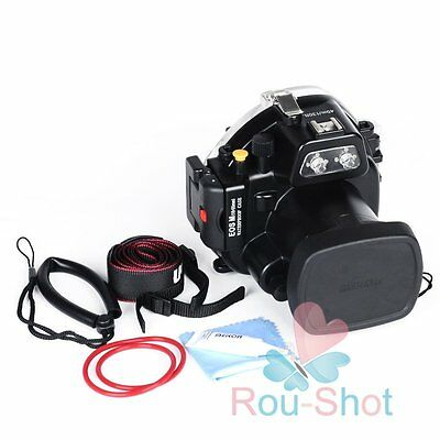 Meikon 40m/130ft Underwater Diving Housing Waterproof Case 18-55mm Canon EOS M