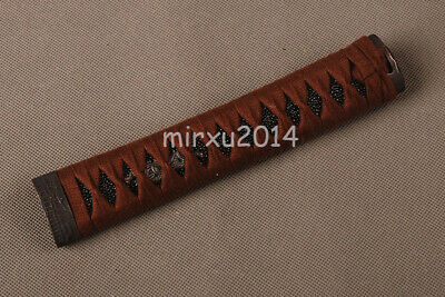 brown cotton ITO Tsuka handle black same for Japanese Samurai WAKIZASHI Swords
