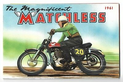 Vintage 1961 Matchless Indian Motorcycle Catalog brochure