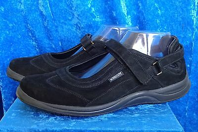 Mephisto Women's Black Suede Leather Mary Jane Comfort Shoes, Size 9.5