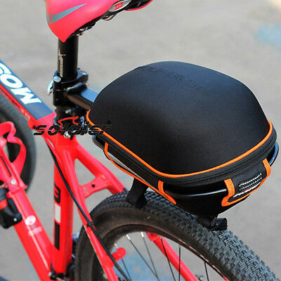 Cycling Bicycle Bike Rear Rack Bag + Frame Hard Shell Seatpost  Carrier Pannier