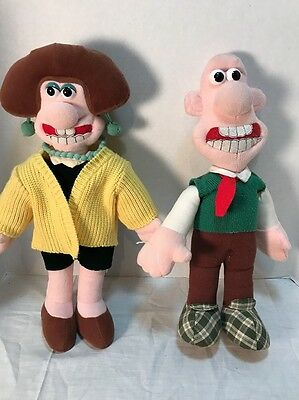 """Vintage 1989 Born To Play 15"""" WALLACE Plush Doll Wallace & Gromit Wendolene"""