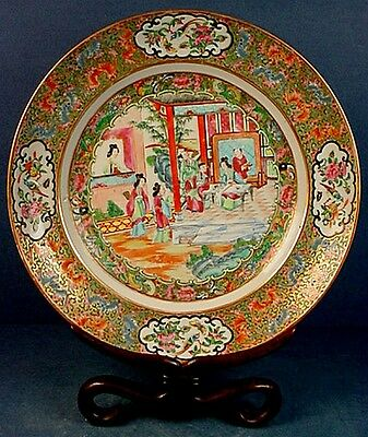EARLY 19thCENTURY CHINESE FAMILLE ROSE EXPORT PORCELAIN MANDARIN PATTERN PLATE 2