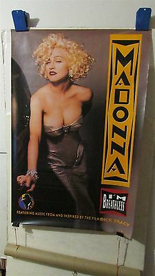 """MADONNA I'm Breathless 1990 Dick Tracy 23x35"""" PROMO CD Store POSTER [R181]"""