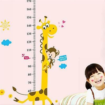 Height Growth Chart Measure Giraffe Wall Decal Removable Stickers Decor Nursery