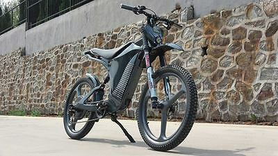 CARBON 60+ mph E-bike E-Moto-Cycle - FULLY LOADED! BLUETOOTH PROGRAMMING