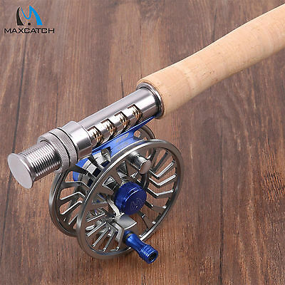 Maxcatch Fly Rod Combo 9FT LW5 4Sec IM10 Fly Fishing Rod & 5/6WT Aluminium Reel