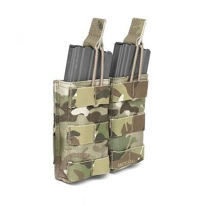 ELITE OPS DOUBLE MOLLE OPEN MAGAZINE POUCH SUIT 5.56mm DOUBLE SHINGLE CORDURA