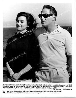 FRANCESCA ANNIS, RAUL JULIA Original TV Photo RICHEST MAN IN THE WORLD ONASSIS
