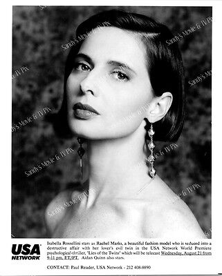 ISABELLA ROSSELLINI Gorgeous ORIGINAL TV Photo LIES OF THE TWINS