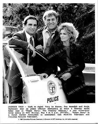 ANGIE DICKINSON, TONY LO BIANCO, MEREDITH ORIGINAL TV Photo POLICE STORY FREEWAY