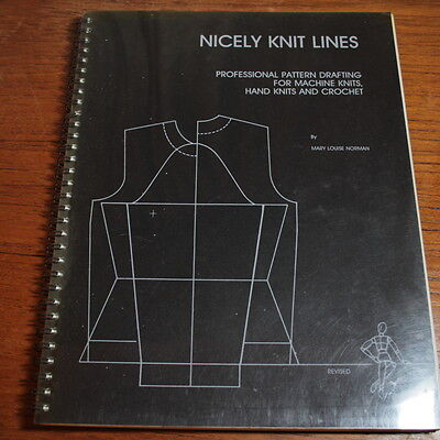 Nicely Knit Lines - Mary Louise Norman Book RARE Professional Knitting Patterns