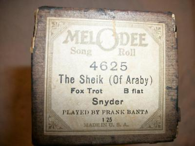 The Sheik Of Araby Piano Roll Melodee Song Roll Fox Trot Played by Frank Banta