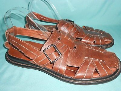 BACCO BUCCI Mens Leather Sandals Size 11