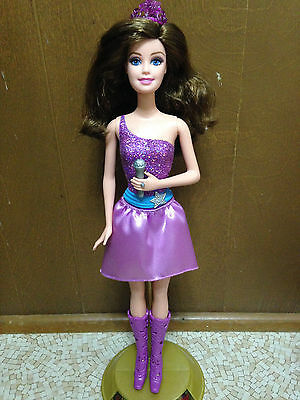 Barbie The Princess & Popstar Singer Keira Purple Dressed Crown Skirt Doll