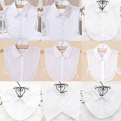 2019 New Blouse False Collar Clothes Shirt Detachable Collars Black white