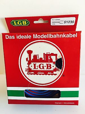 LGB 51230 BlLUE/RED 2-WIRE CABLE 15 m - NEW IN BOX