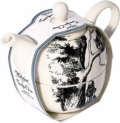 BRAND NEW ~Beautiful Alice in Wonderland Tea-for-One Teapot & Cup Set CHESHIRE!