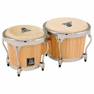 LP LPA601 Aspire Oak Bongos with Chrome Hardware Natural + a gift for you