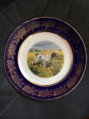Sheriden Genuine Staffordshire China Spaniel Decorative Plate