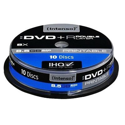 Pack de 10 DVD+R DL 8.5 GB 8x Speed Intenso imprimable - Neuf