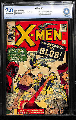 X-MEN #7 ~ CBCS 7.0 FN/VF (Like CGC) ~ 1st app CEREBRO, 2nd Blob