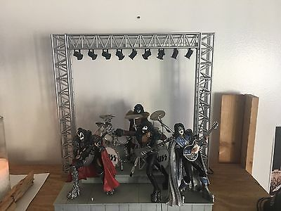 "Kiss ""Creatures of the Night"" Action Figures and Stage w Lights"