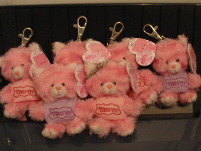 "12 X Pink ""milly"" Cat Keyring/clip With Mum T-Shirt"