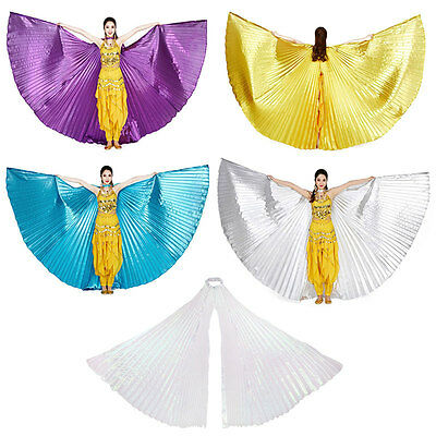 Egyptian Shiny Belly Dance Wings Dancing Costume Isis Wing Dance Wear Wings New